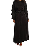 Long Sleeve Maxi Dress - Black