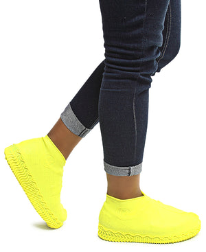 Waterproof Non-Slip Shoe Covers - Yellow
