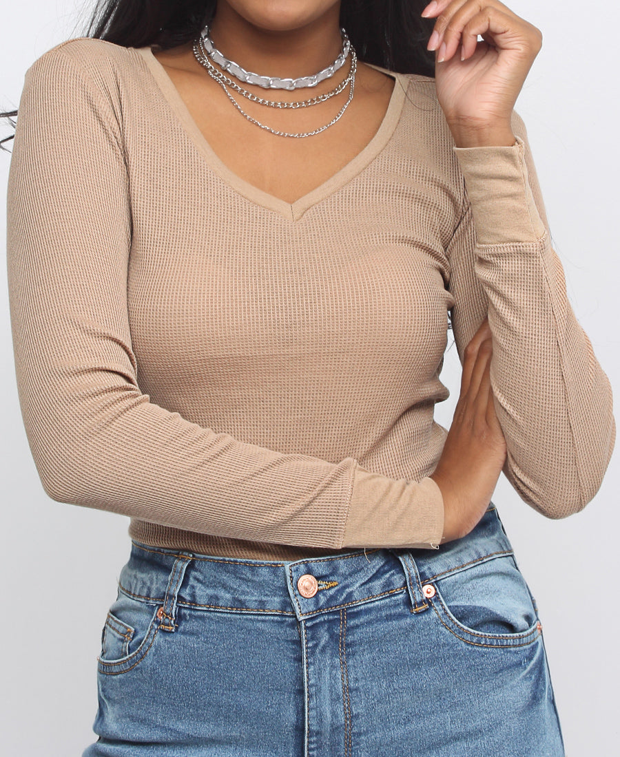 Long Sleeve T-Shirt - Taupe