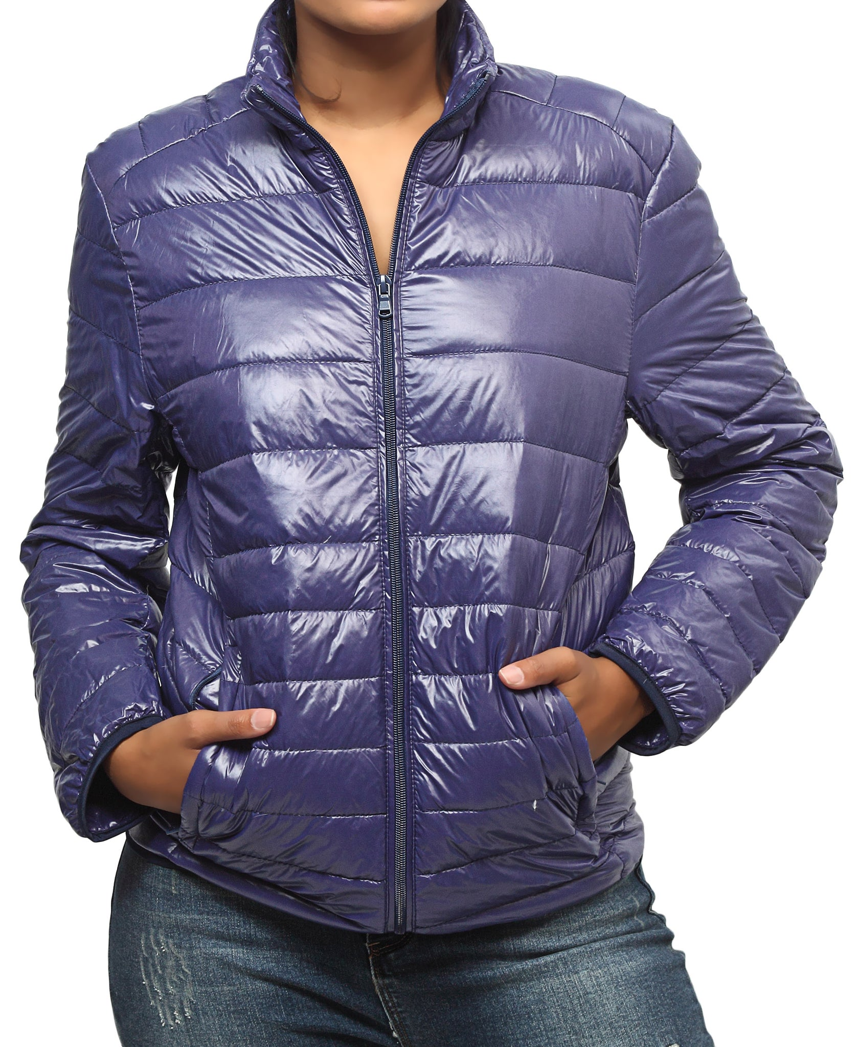 Compactable Unisex Travel Jacket - Purple