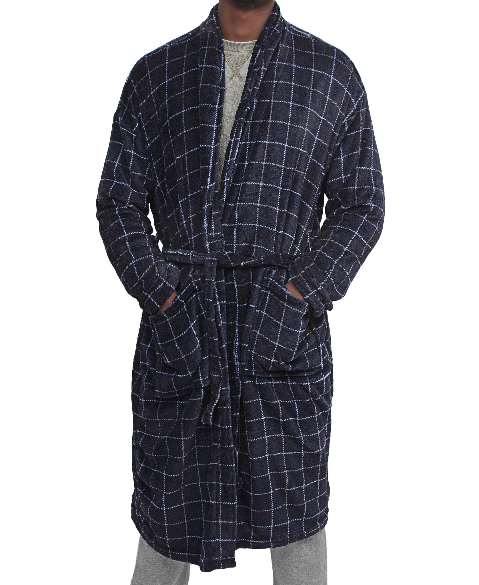 Men's Bathrobe - Navy