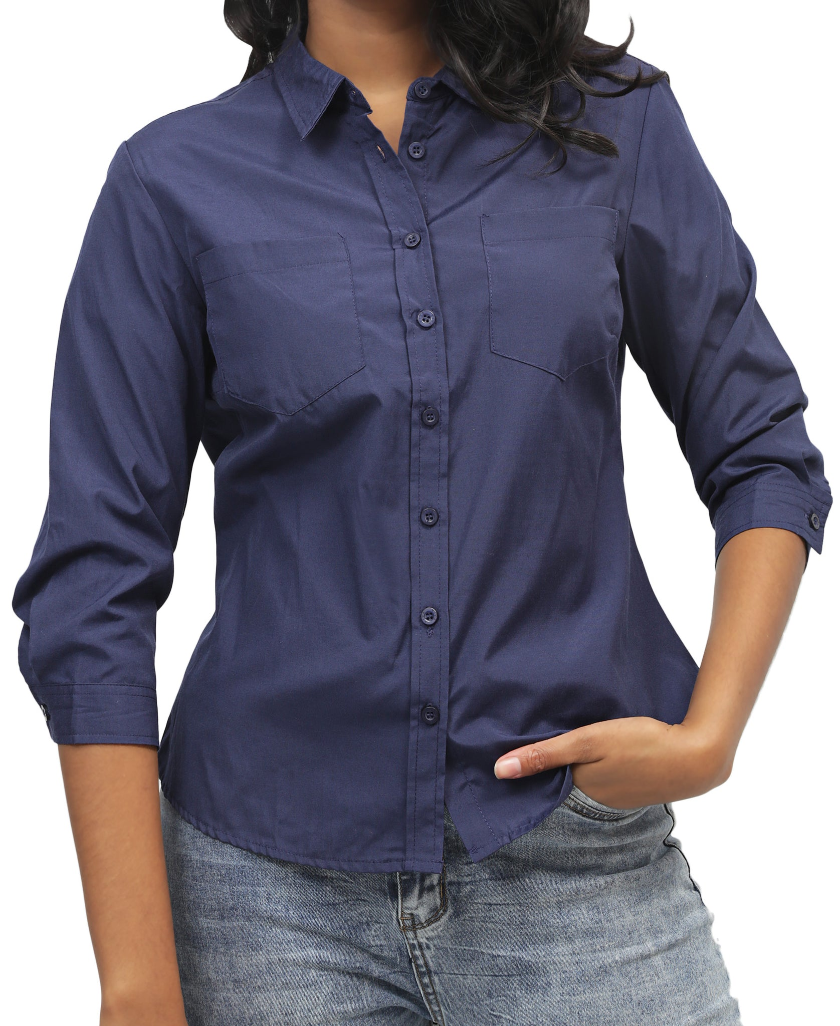 Ladies' Shirt - Navy
