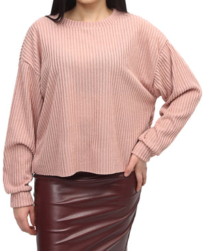 Ribbed Sweater - Mink