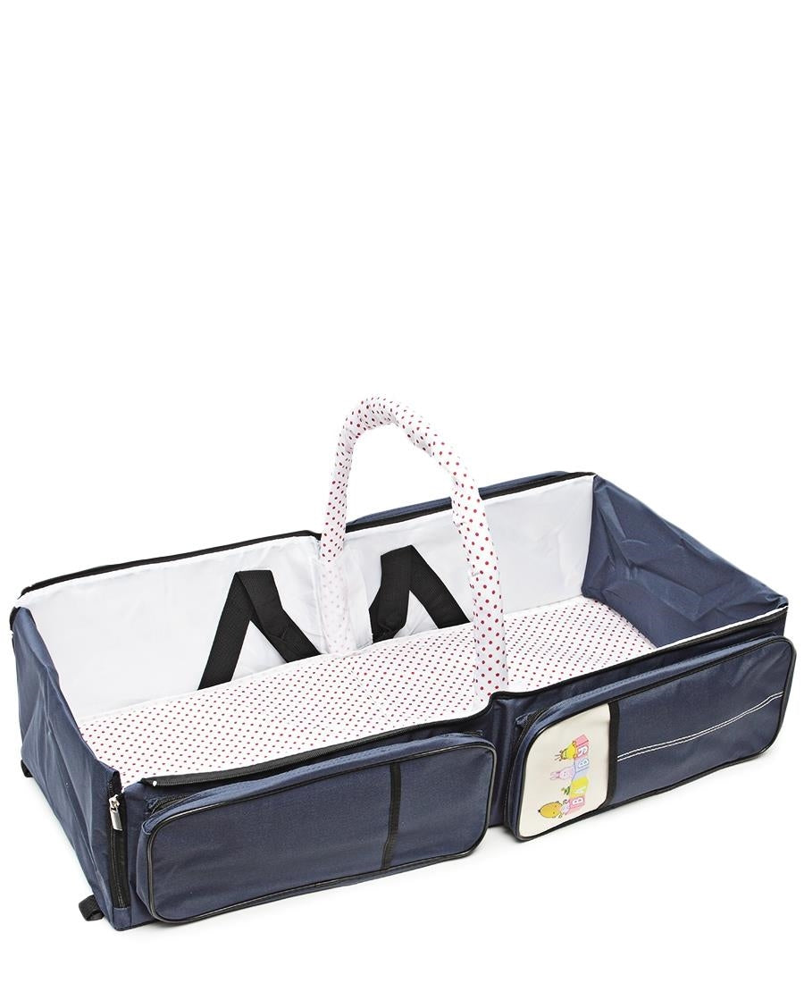 2 In 1 Baby Bag And Bed - Blue