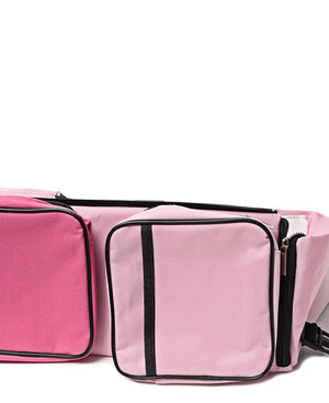 2 In 1 Baby Bag And Bed - Pink