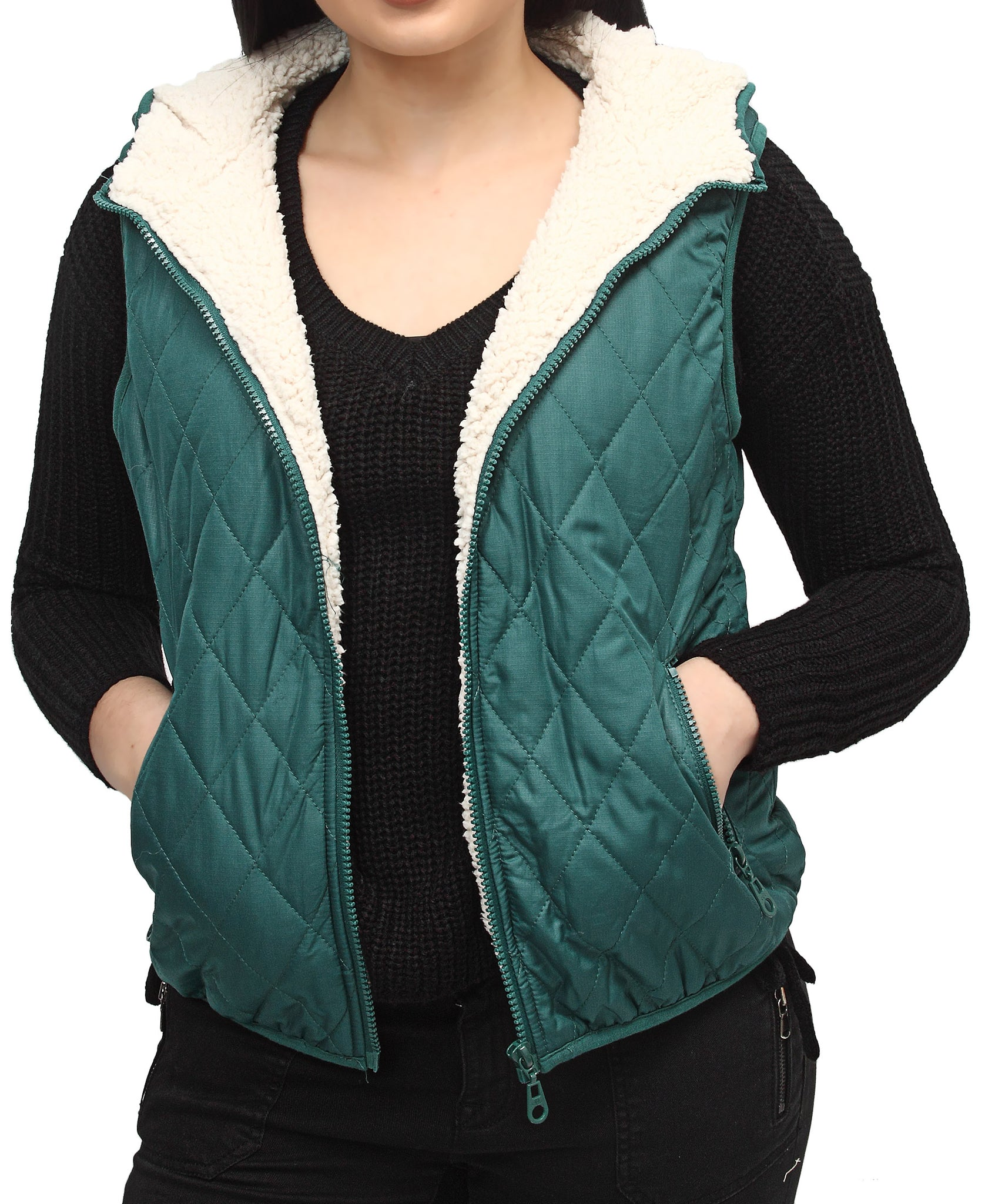 Sleeveless Jacket - Green