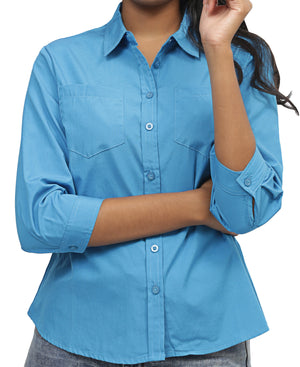 Ladies' Shirt - Blue