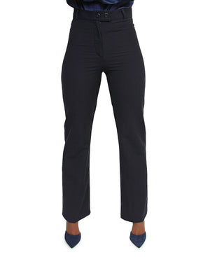 High Waist Formal Pants - Navy