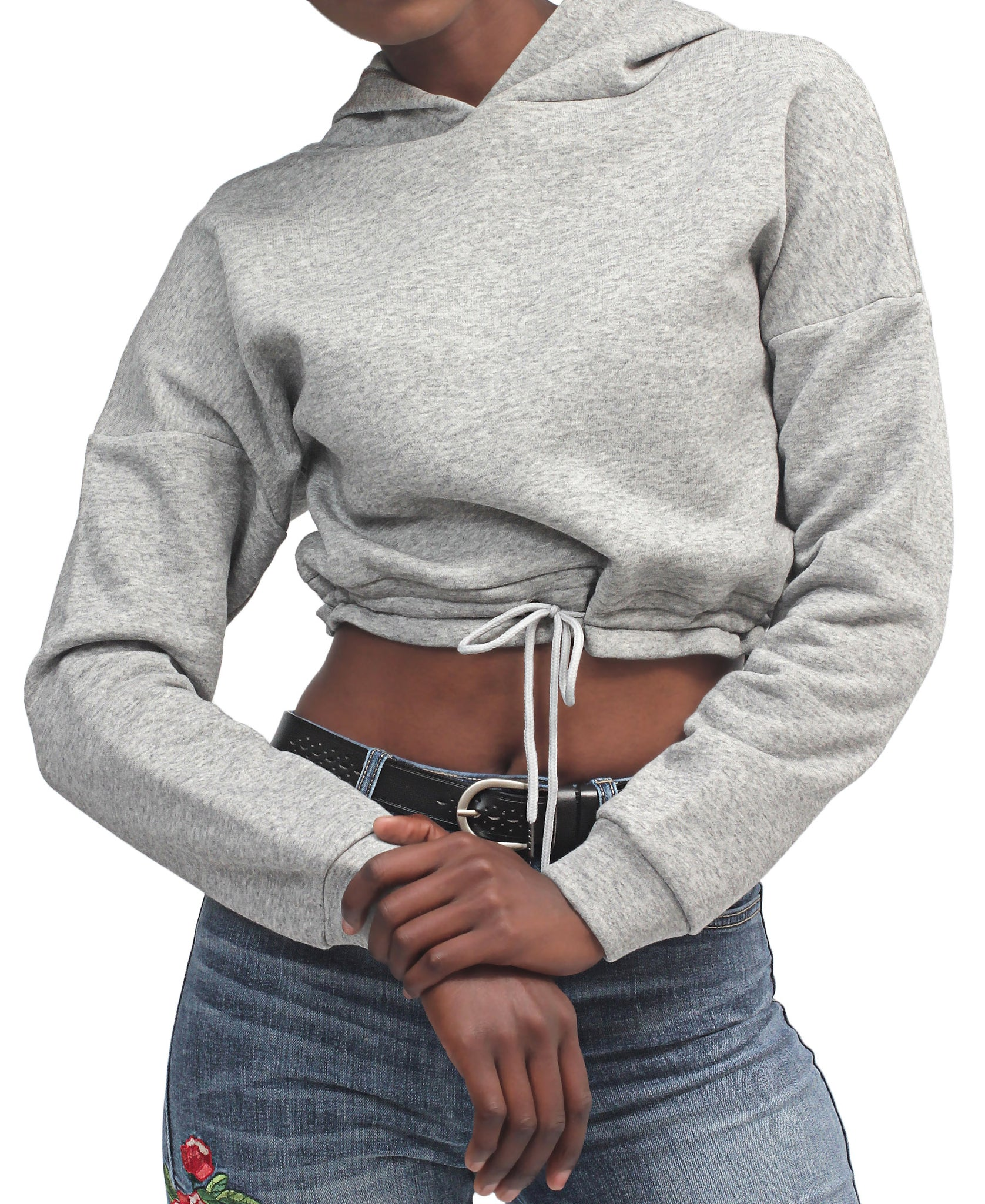 Cropped Sweater - Grey