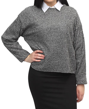 Ribbed Sweater - Grey