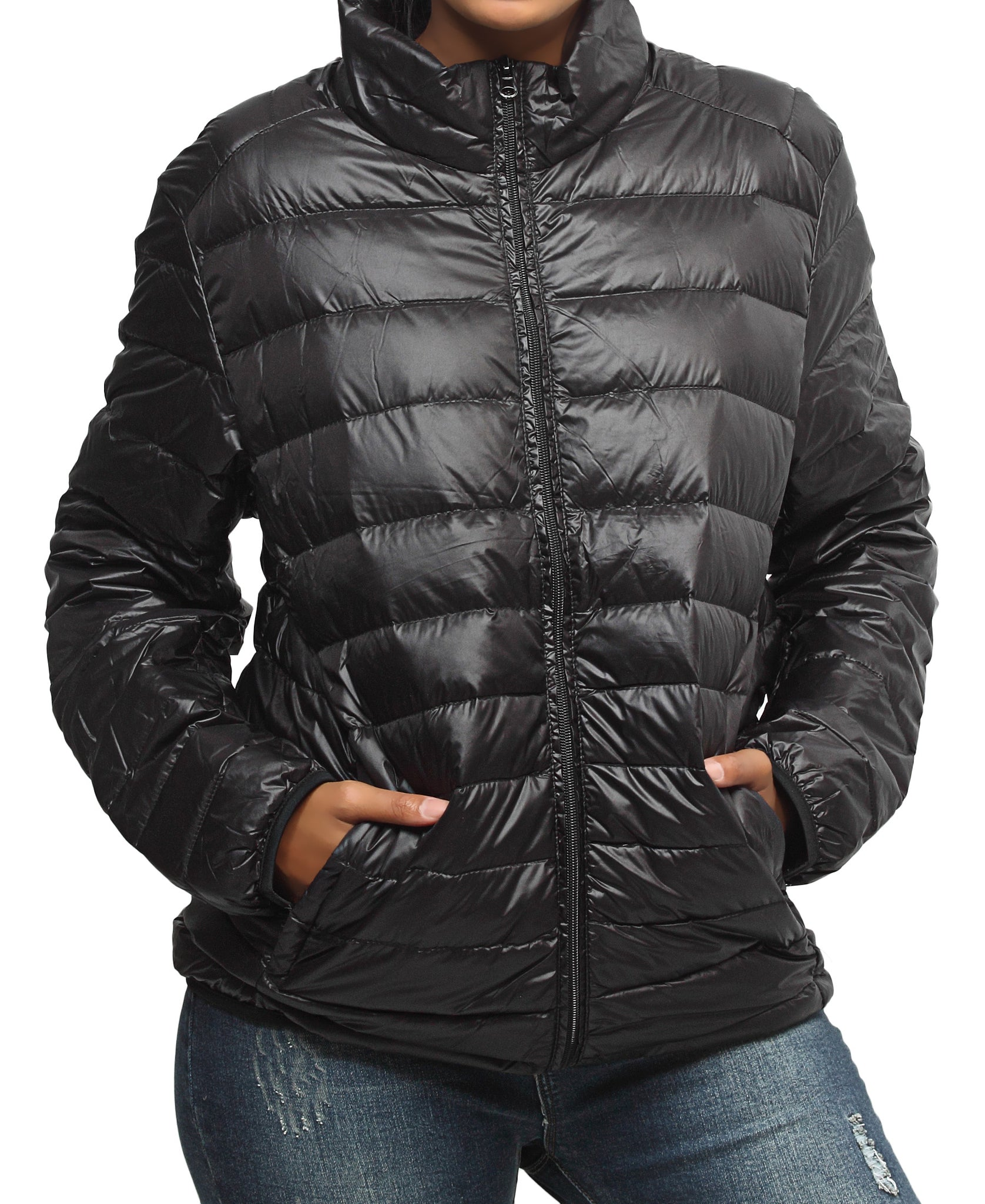 Compactable Unisex Travel Jacket - Black