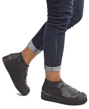 Waterproof Non-Slip Shoe Covers - Black