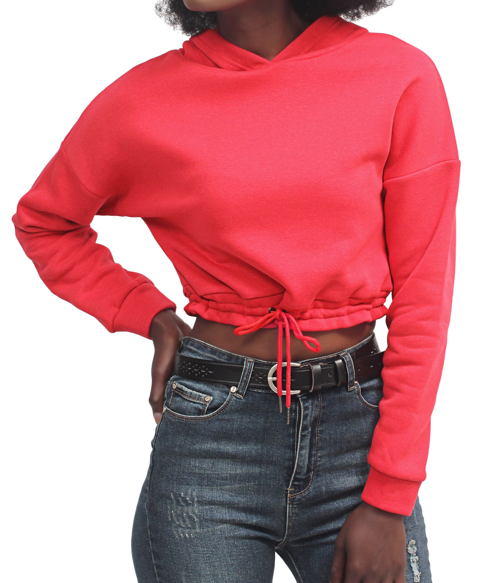 Cropped Sweater - Red