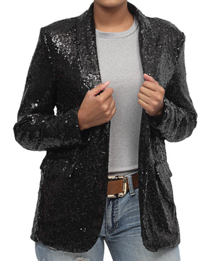 Sequins Jacket - Black