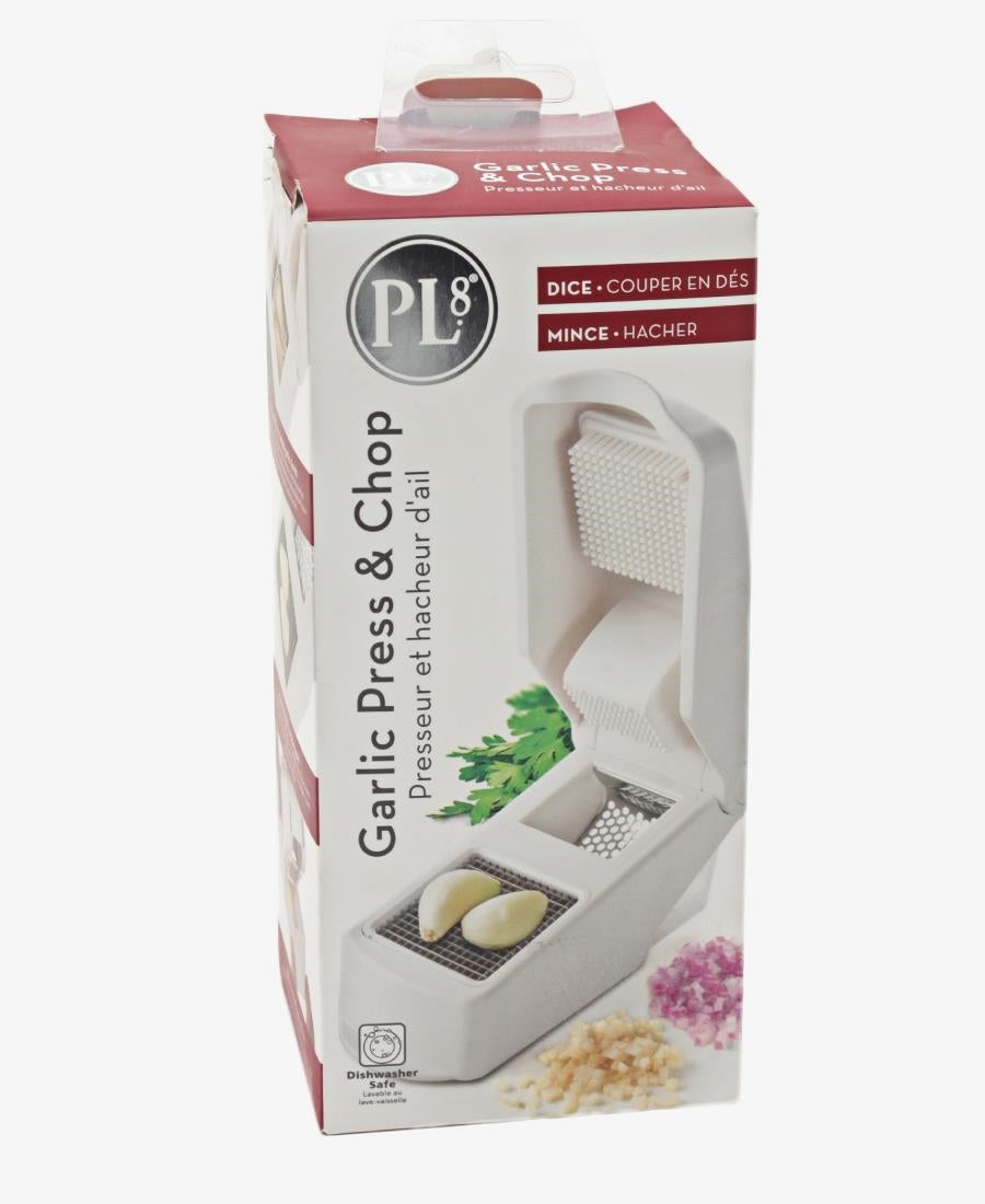 Garlic Press & Chopper - White