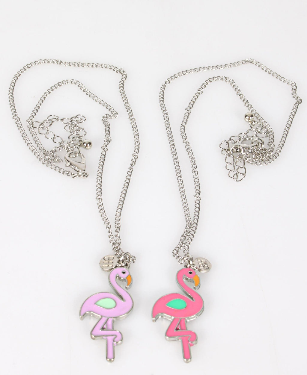Girls 2 Pack Necklace - Silver