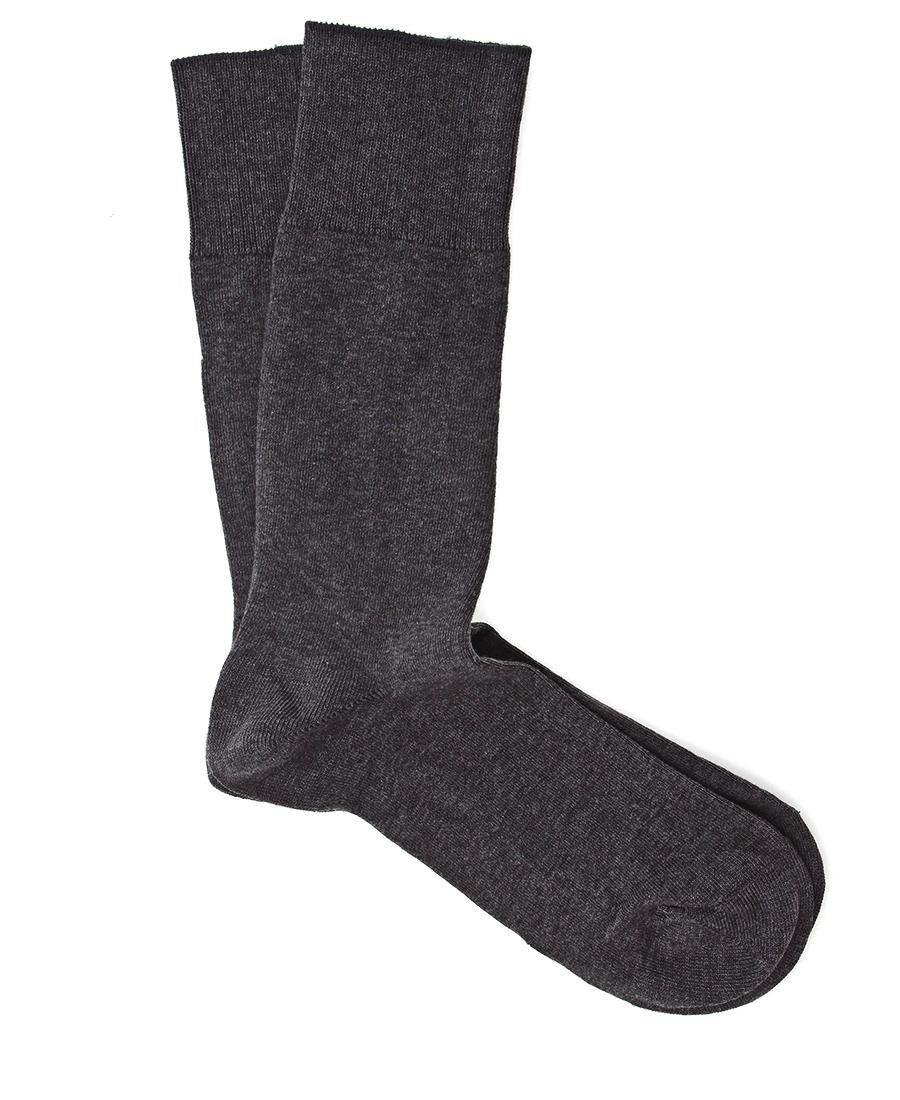 Pure Cotton Ankle Socks  - Grey