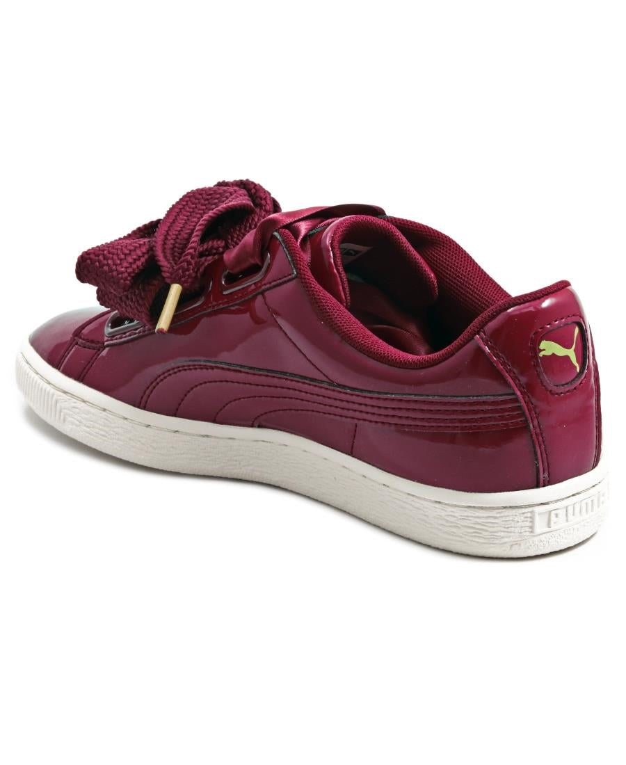 Basket Heart Patent - Burgundy
