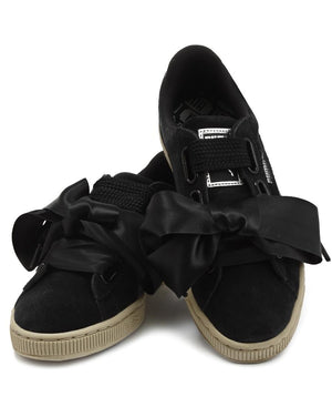 Suede Heart Safari - Black