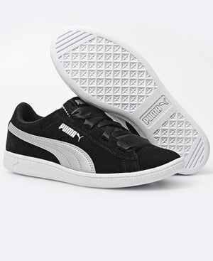Youth Vikky Ribbon Sneakers - Black