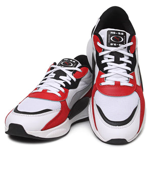 Men's RS 9.8 Space Sneakers - White-Red