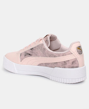Ladies' Puma Carina Tie-Sneakers - Pink