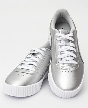 Ladies' Carina Metallic Sneakers - Silver