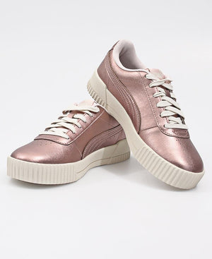 Ladies' Carina Metallic Sneakers - Rose Gold