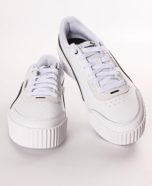 Ladies' Puma Carina Lift Sneakers - White