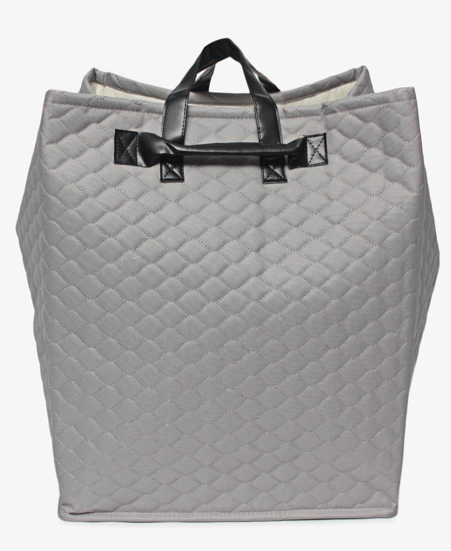Funky Lines Carry Basket - Grey