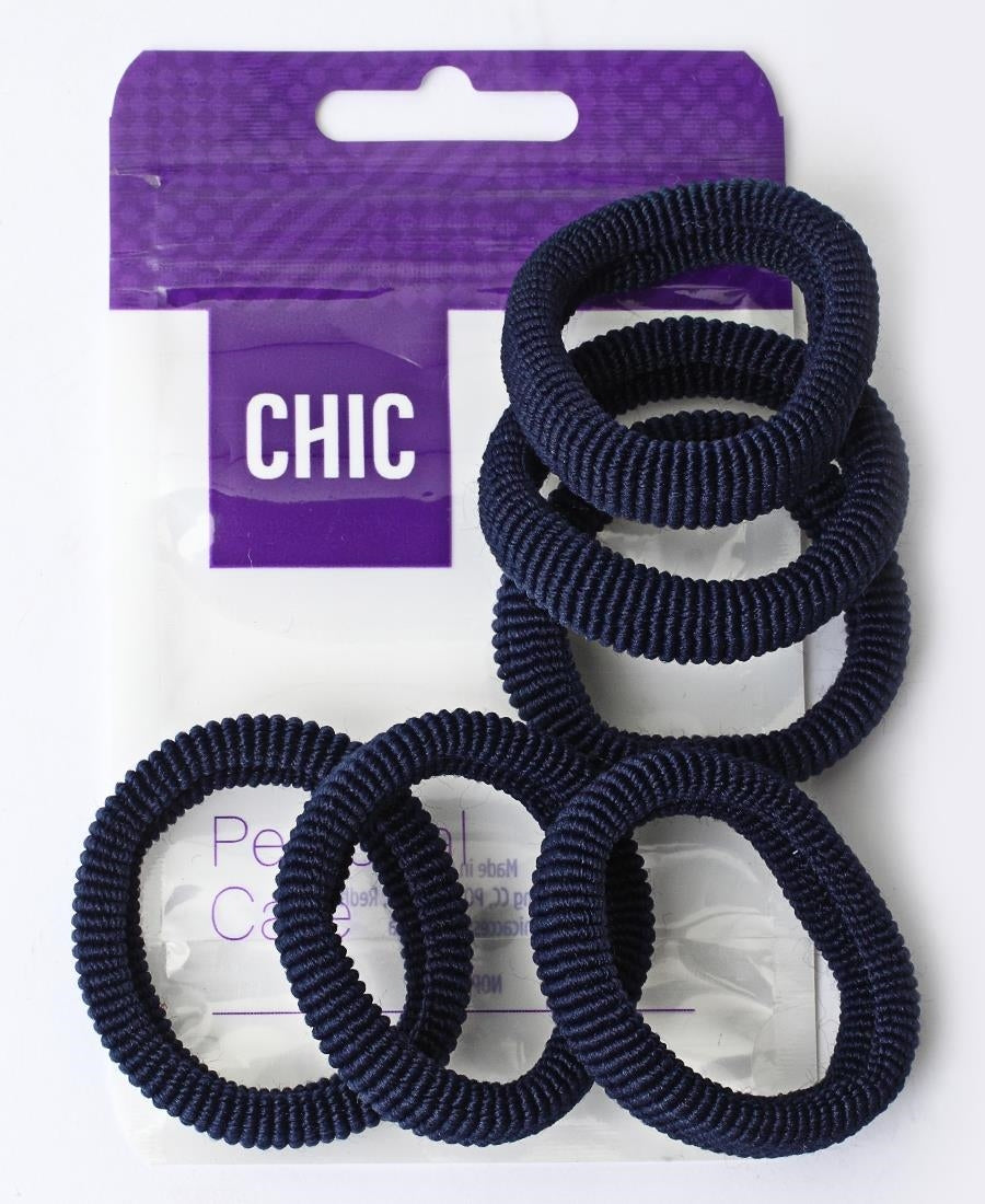 6 Pack Hair Ties - Navy