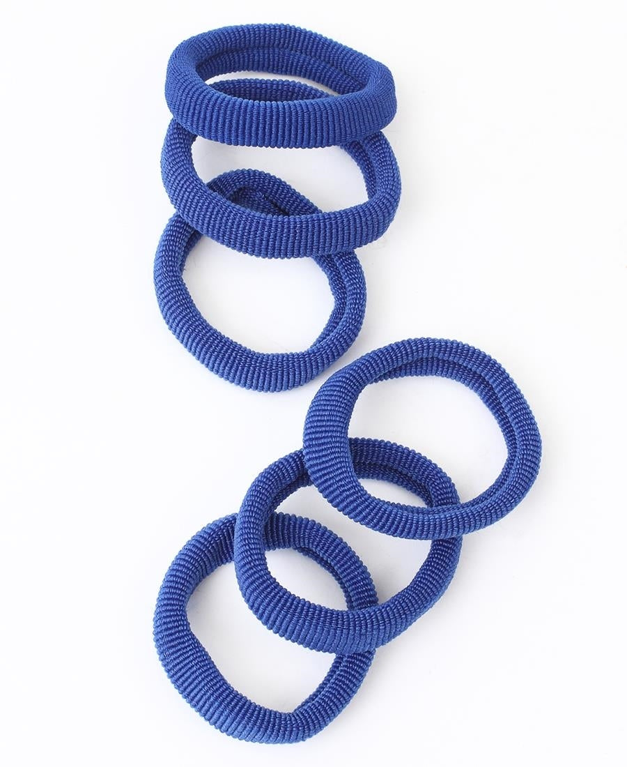6 Pack Hair Ties - Blue