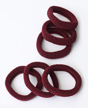 6 Pack Hair Ties - Maroon