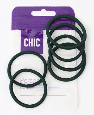 6 Pack Hair Ties - Green