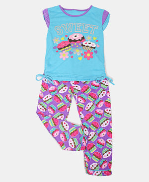 Girls Printed Pyjama Set - Multi
