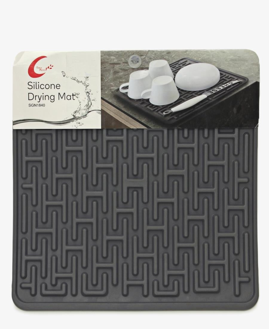 Table Pride Silicone Dish Drying Mat - Grey