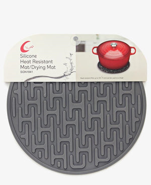 Table Pride Heat Resistant Silicone Dish Mat - Grey