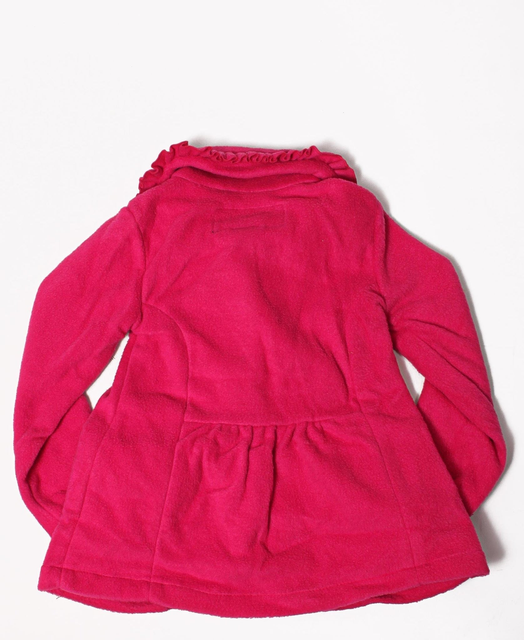 Girls Button Front Fleece Jacket - Pink