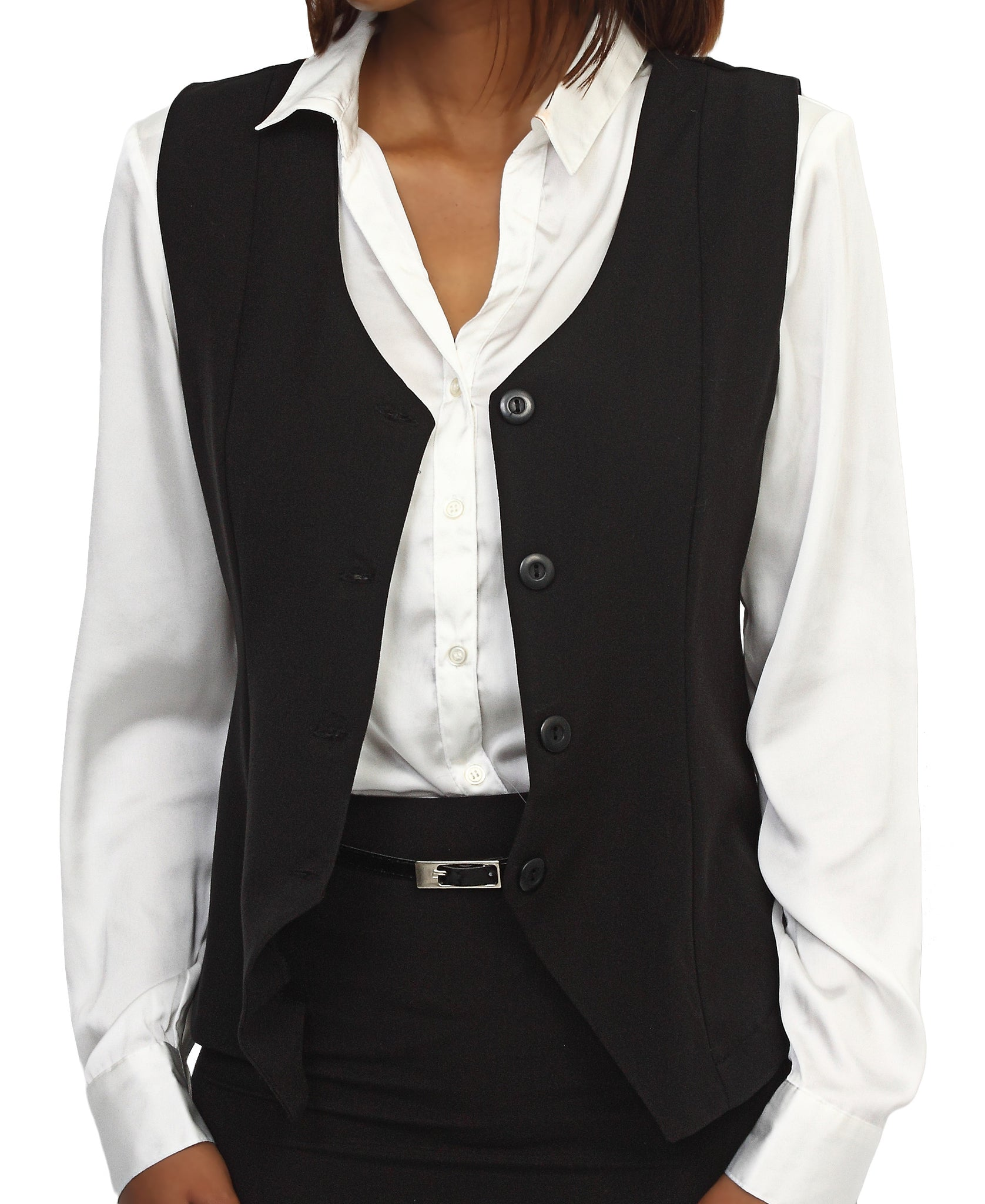 Sleeveless Blazer - Black
