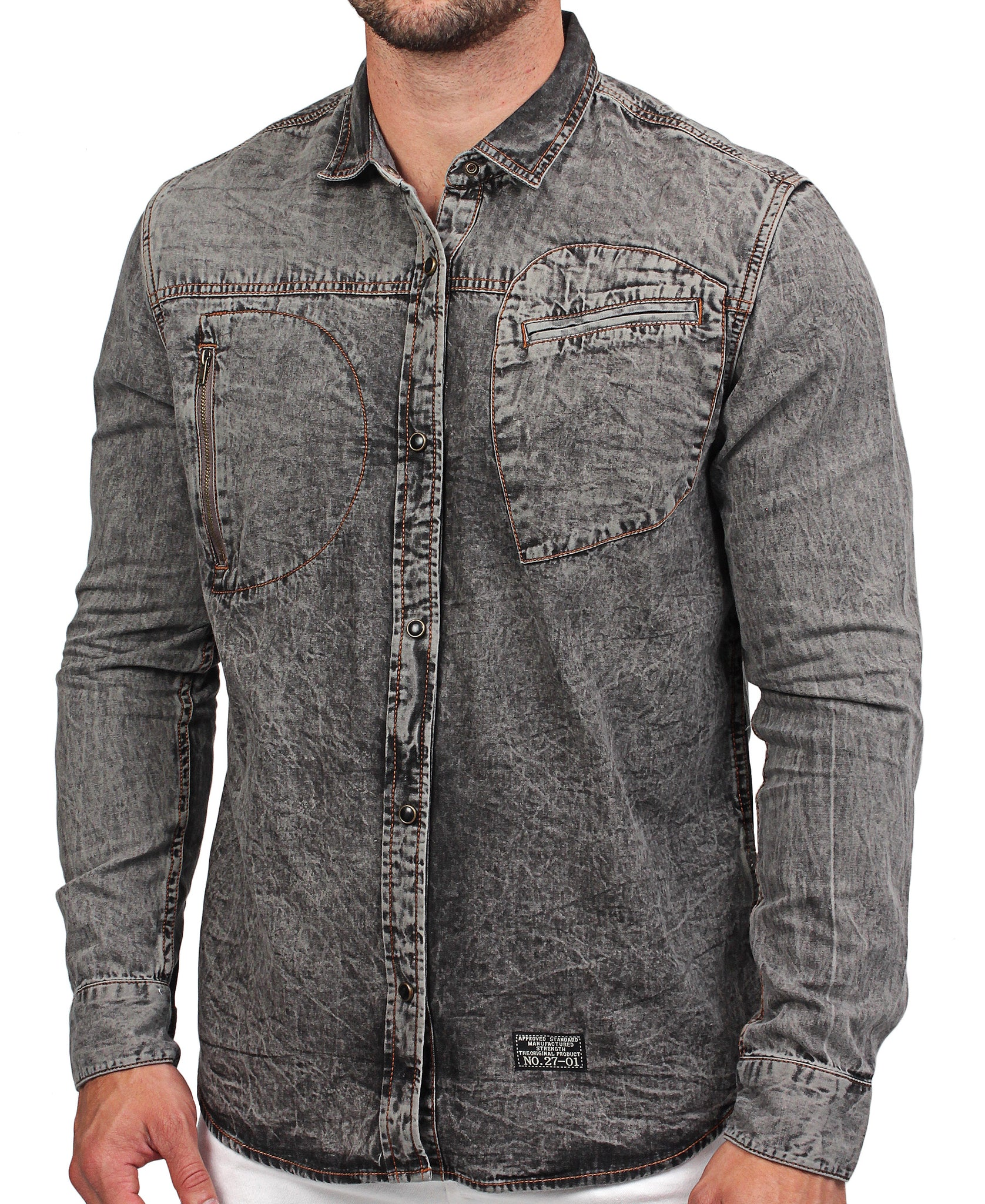 Denim Shirt - Black