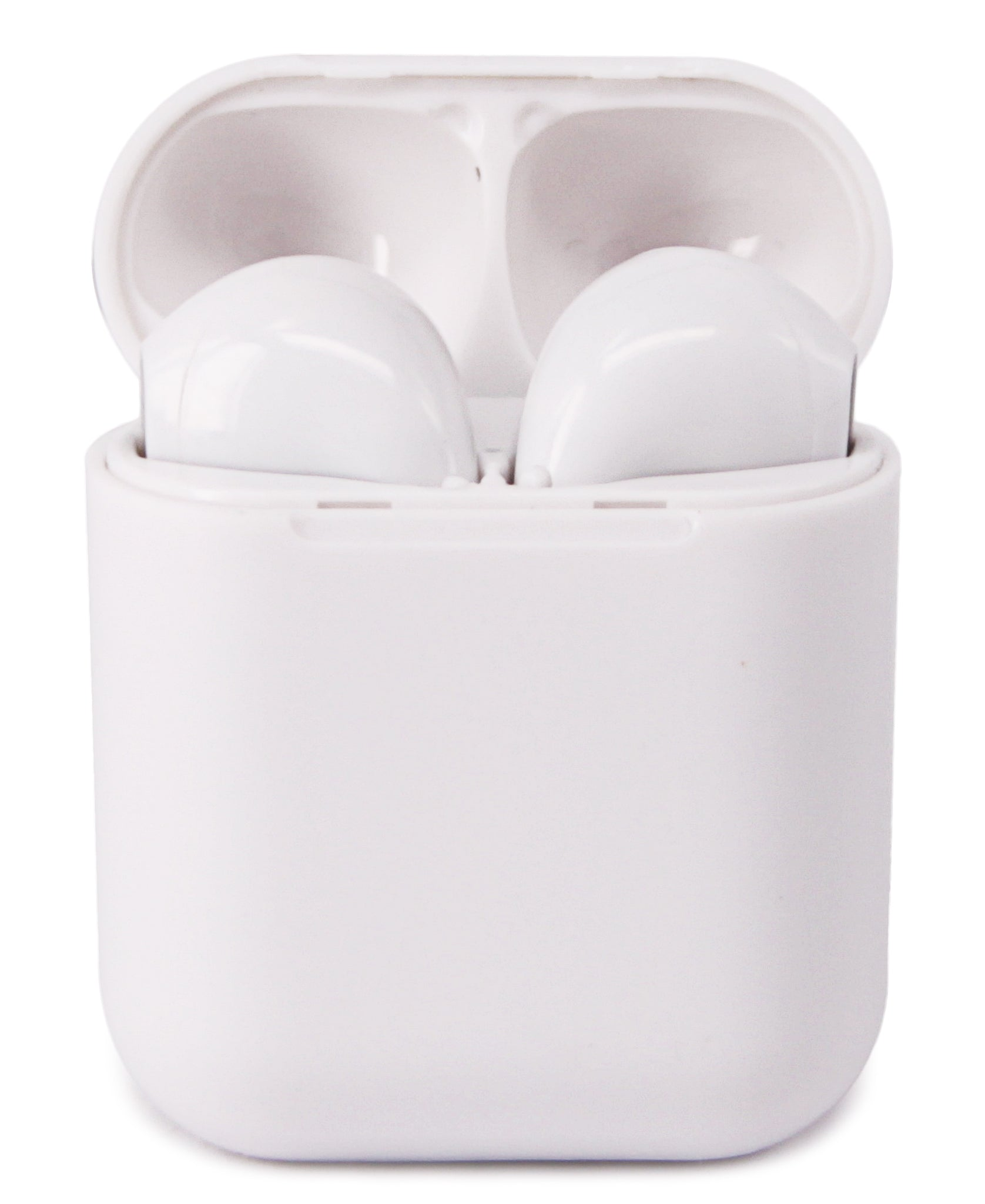 Bluetooth Earphones With Charging Case - White