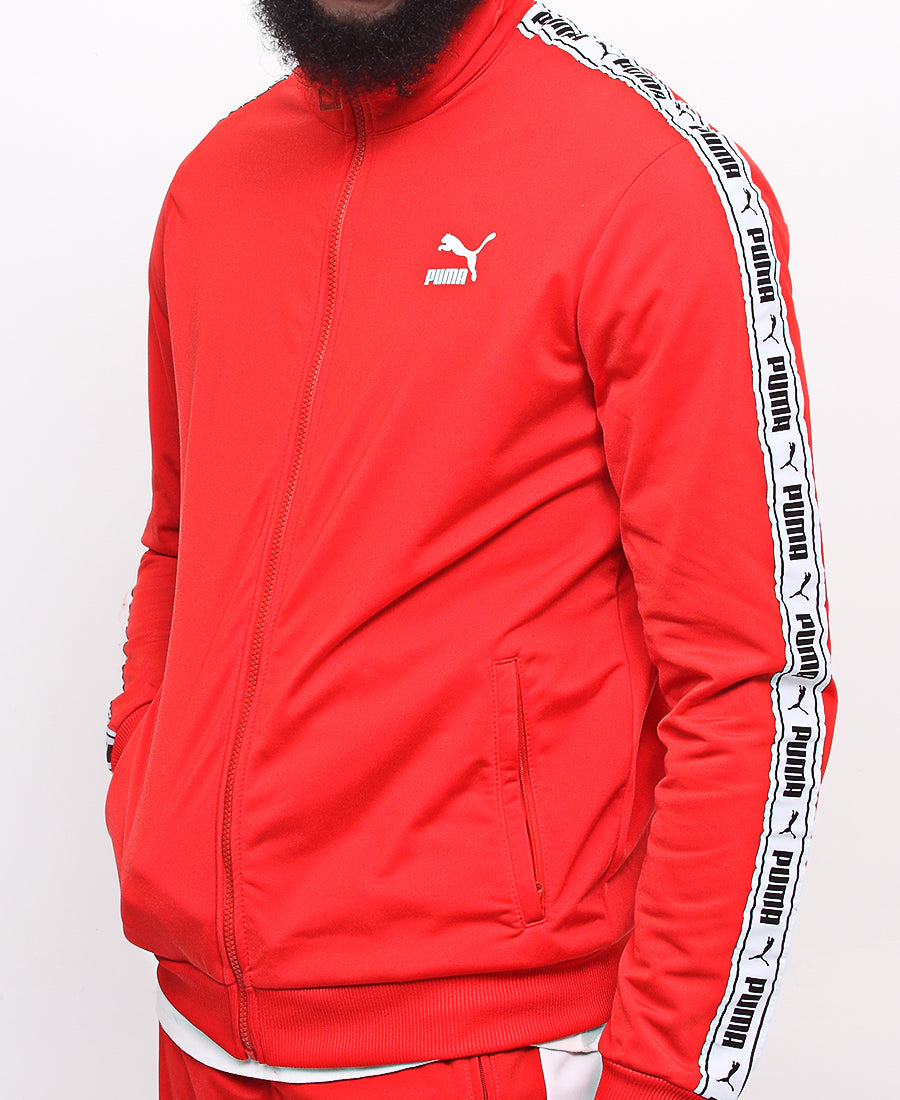 Tape Track Jacket - Red