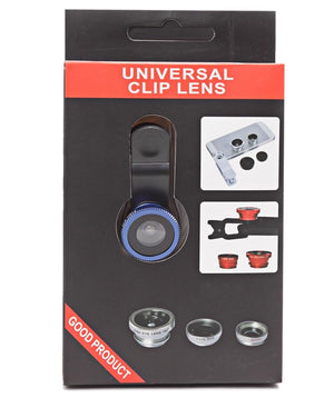 3 in 1 Camera Phone Lens - Blue