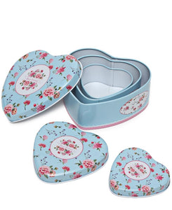3 Piece Mini Storage Tins - Blue