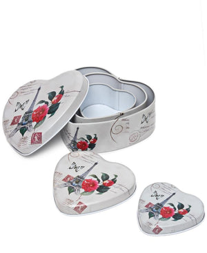 3 Piece Mini Storage Tins - Grey