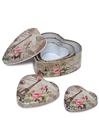3 Piece Mini Storage Tins - Brown
