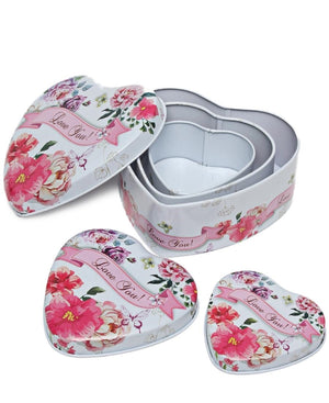 3 Piece Mini Storage Tins - Pink