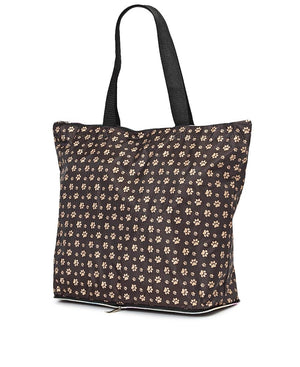 Foldable Shopper Bag - Brown