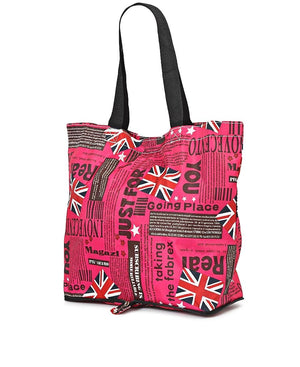 Foldable Shopper Bag - Pink
