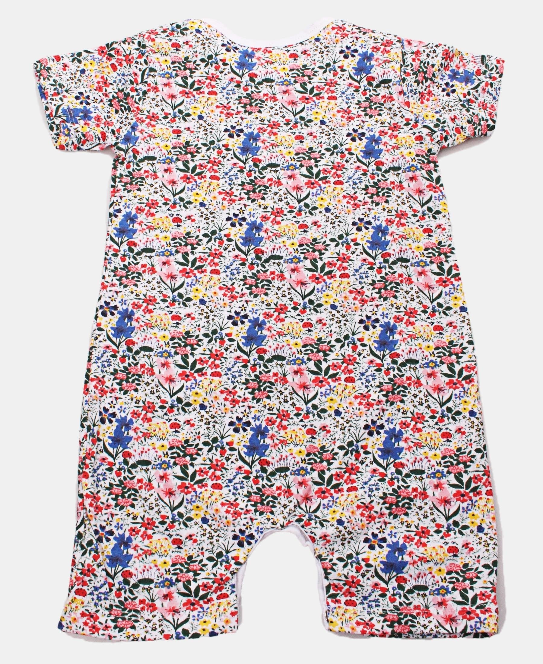 Infants Ditsy Print Short Sleeve Rompers - Multi